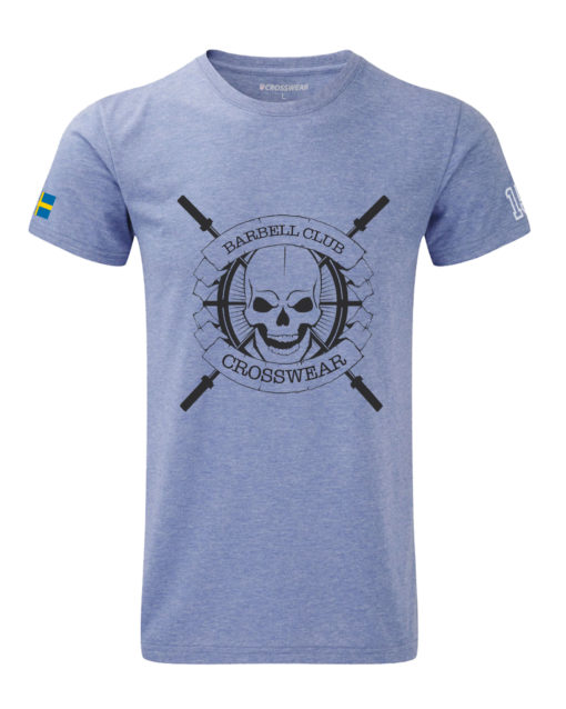 CW Barbell Club t-shirt blue