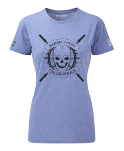CW Barbell Club crossfit t-shirt blue dam black