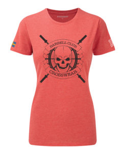 CW Barbell Club crossfit t-shirt red dam black