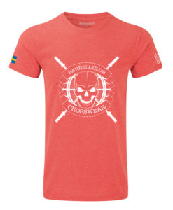 CW Barbell Club crossfit t-shirt red