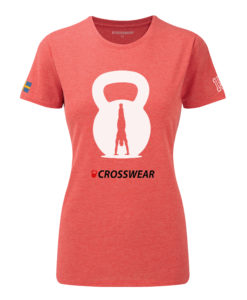 CW Kettlebell Crosswear t-shirt women red