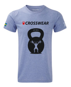 CW KB Snatch Crossfit t-shirt blue