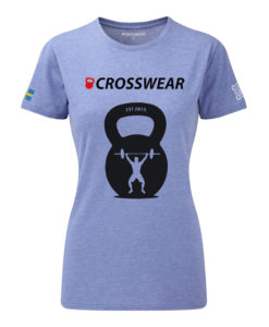 CW KB Snatch Crossfit t-shirt blue WOMEN