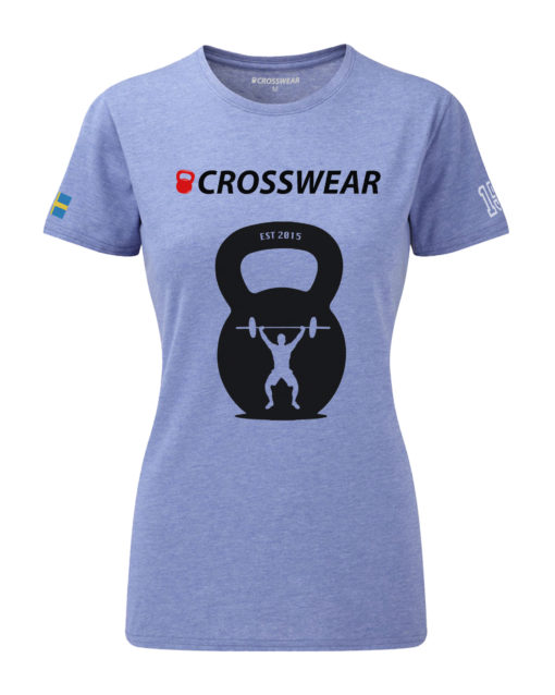 CW KB Snatch Crosswear t-shirt blue WOMEN