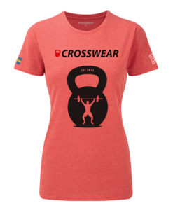 CW KB Snatch Crossfit t-shirt red WOMEN