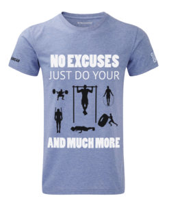 CW No-excuses( crossfit t-shirt blue