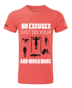 CW No-excuses( crossfit t-shirt red