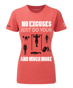 CW No-excuses( Crosswear t-shirt red