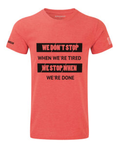 CW We Don't Stop Crosswear t-shirt red