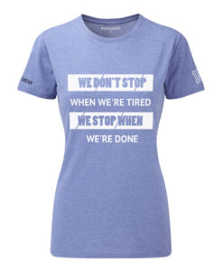 CW We Don't Stop Crosswear t-shirt blue dam