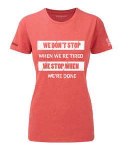 CW We Don't Stop Crosswear t-shirt red dam