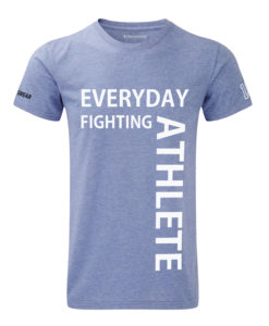 CW Everyday fighting athlete Crossfit t-shirt blue