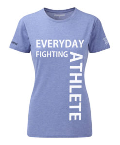 CW Everyday fighting athlete Crosswear t-shirt blue w