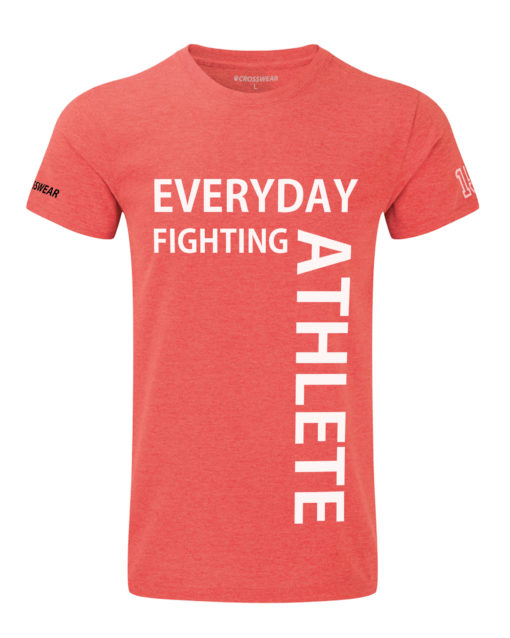 CW Everyday fighting athlete Crosswear t-shirt red
