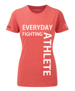 CW Everyday fighting athlete Crosswear t-shirt red w