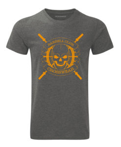 CW Barbell Club crossfit t-shirt grey