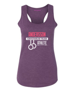 Crosswear cw tank top purple crosswear