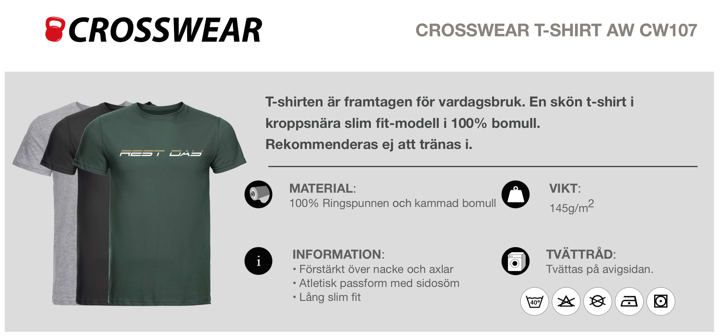 AW Rest day grön bak  - crosswear