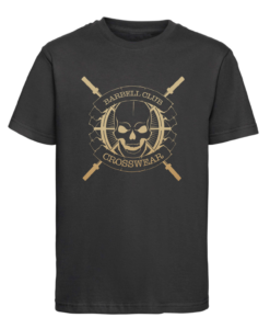 CW Kid Crosswear t-shirt Barbell Club black-gold