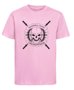 CW Kid Crossfit t-shirt Barbell Club pink