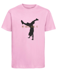 CW Kid Crosswear t-shirt next goal pink