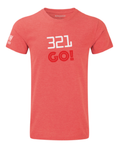 crossfit 321 go crosswear t-shirt red